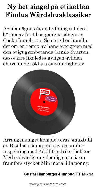 Cacka Israelsson Gamle Svarten
