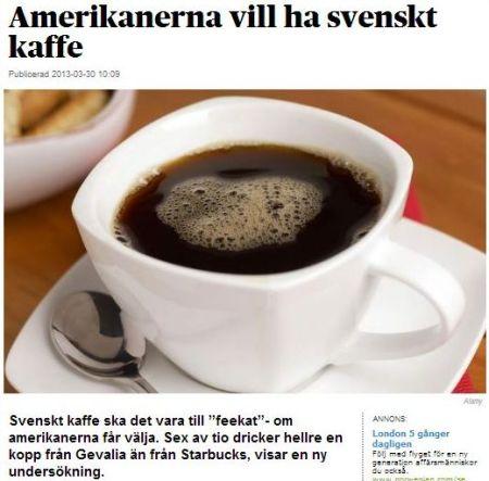 svenskt kaffe i usa