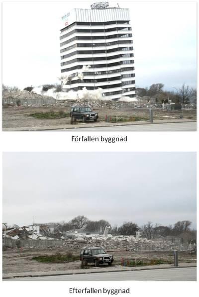 för- och efterfallet hus