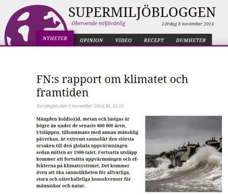 smb-klipp fns rapport om klimatet och framtiden